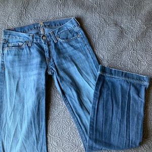 7 For All Mankind Medium Wash Flare Jeans, 27